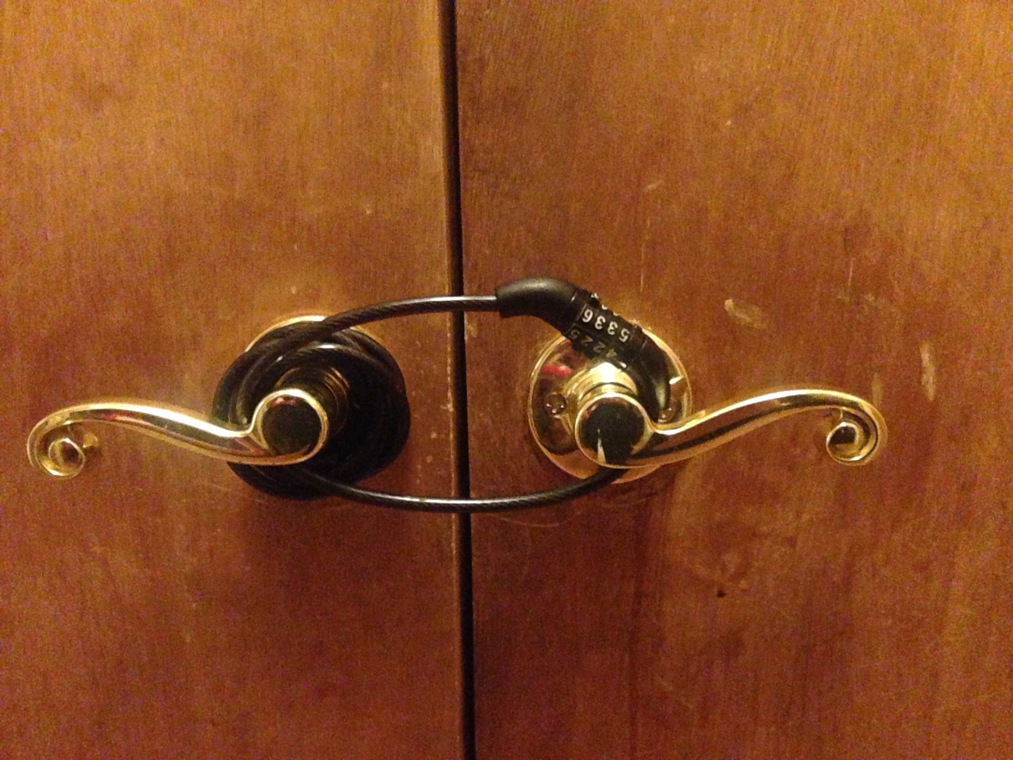 closet double door locks